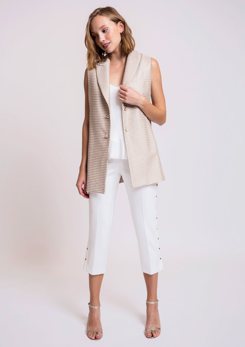 Pantalón blanco broches laterales