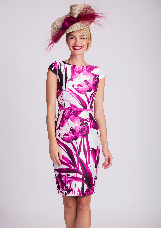 Bonito Vestido De Cóctel De Estampado Floral Motivo - Ideas de ...