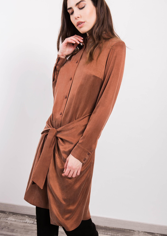 d7d99b6236 Sarong skirt dress in brick red