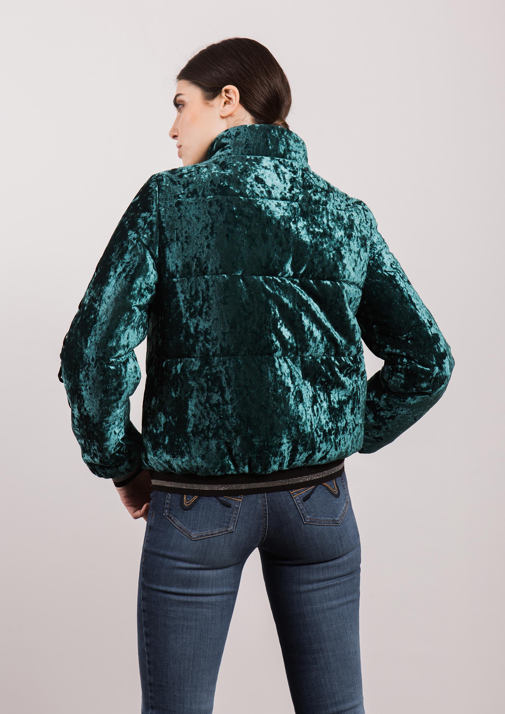 becc6b4812023 Green velvet bomber jacket