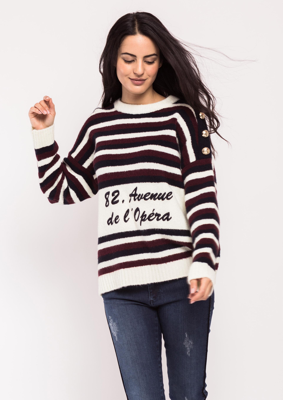 Jersey oversize de rayas tricolor 48748970916f