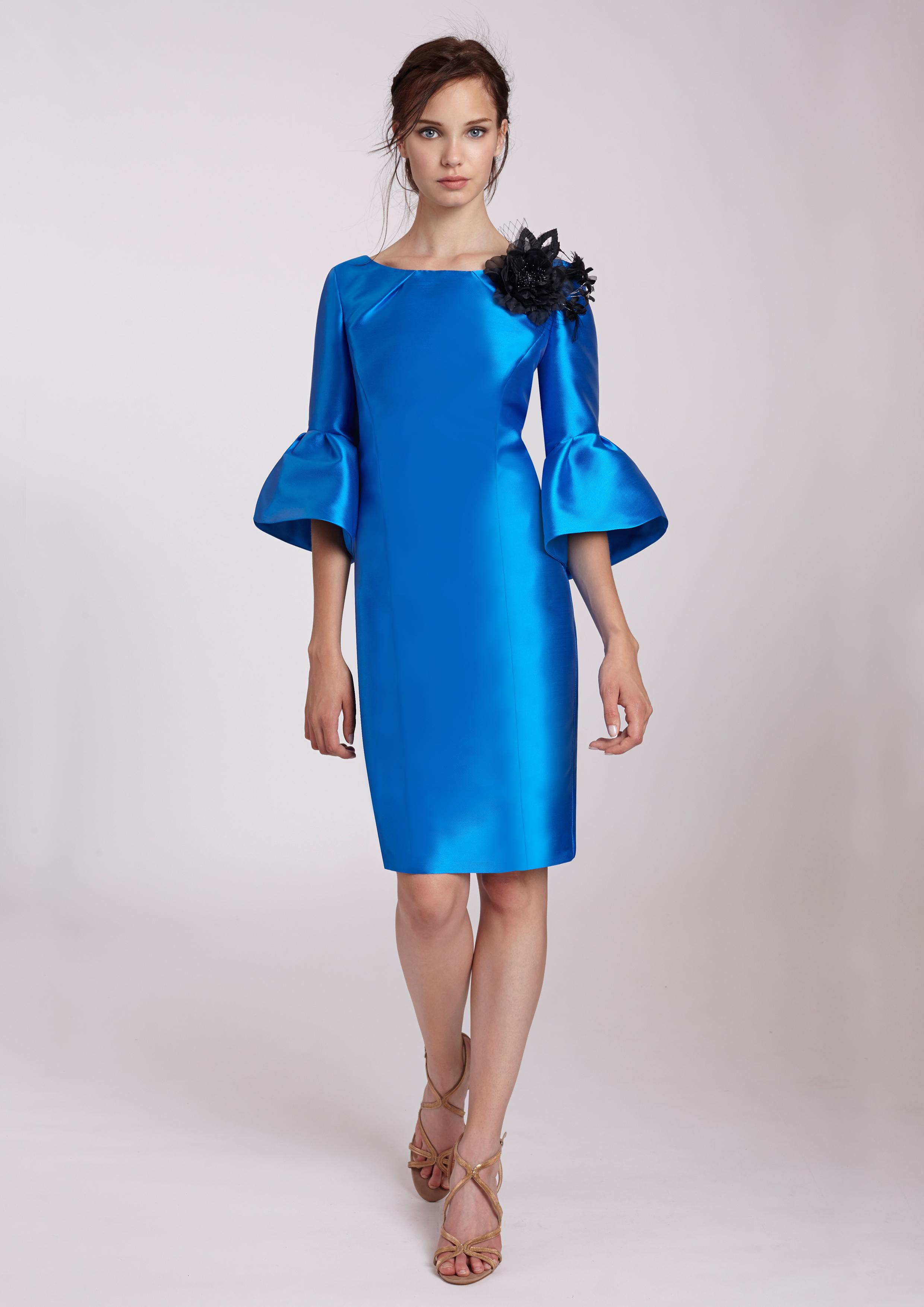 Vestidos de coctel azul