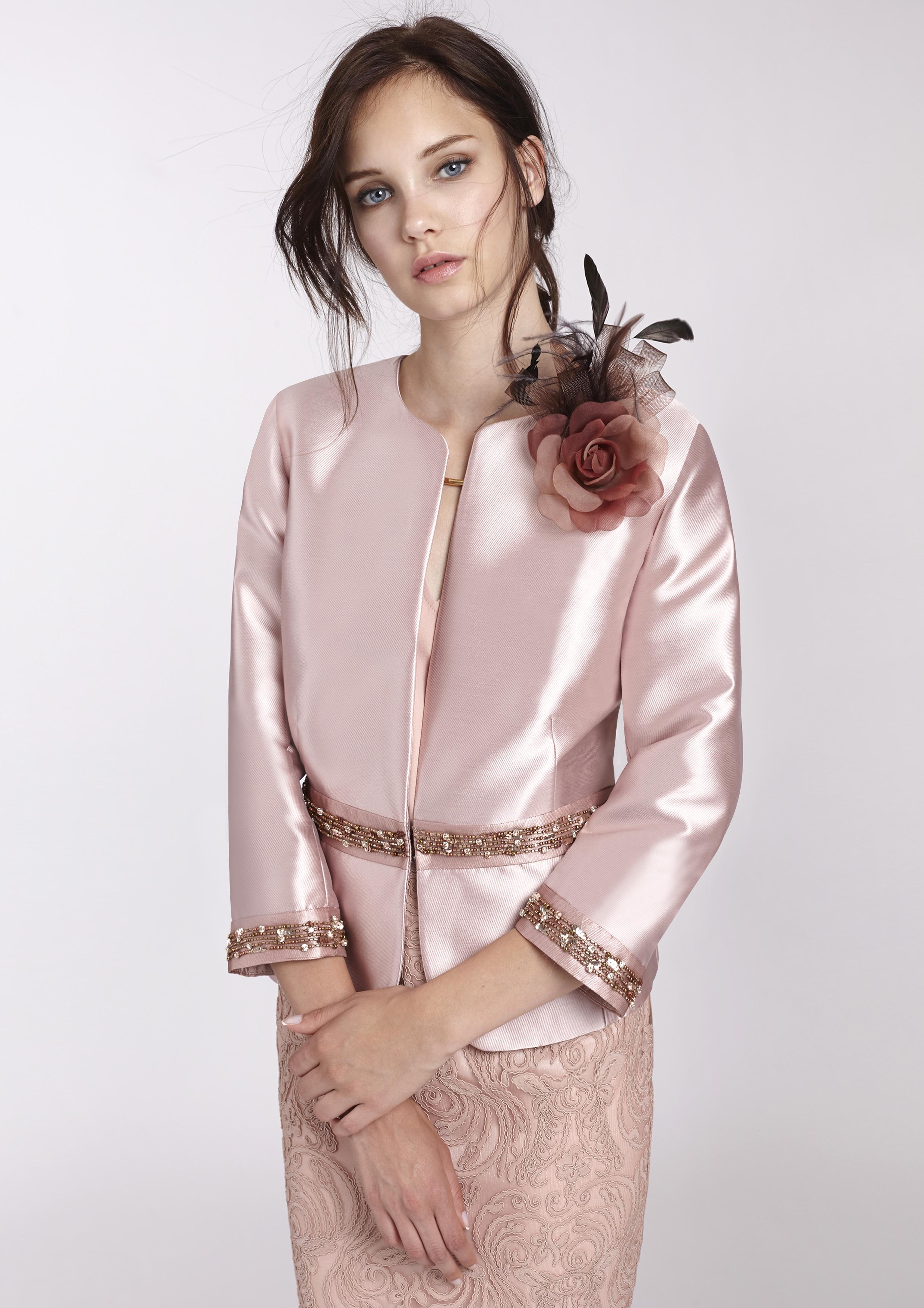 Chaqueta de fiesta rosa