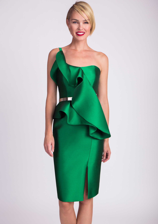 0c7110080c Vestido verde de cóctel