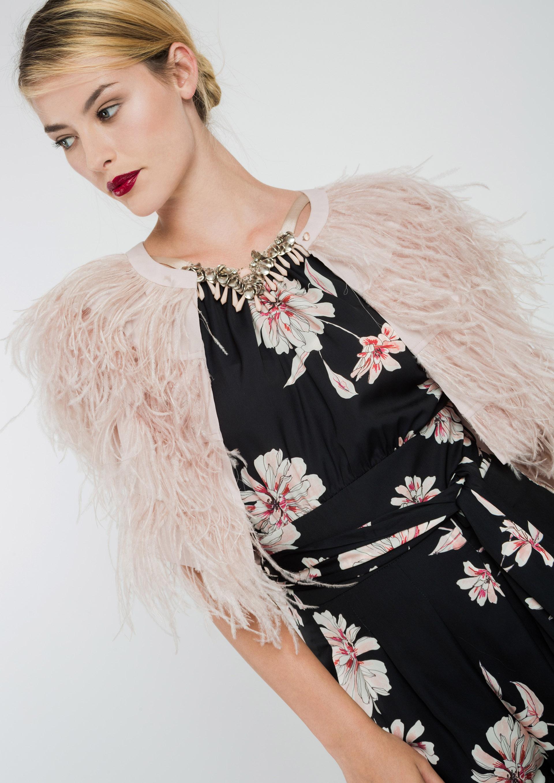 Boleros de plumas para vestidos de fiesta