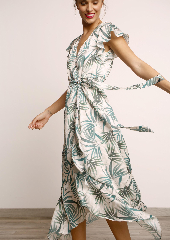 71a36b16a Vestido cruzado estampado tropical
