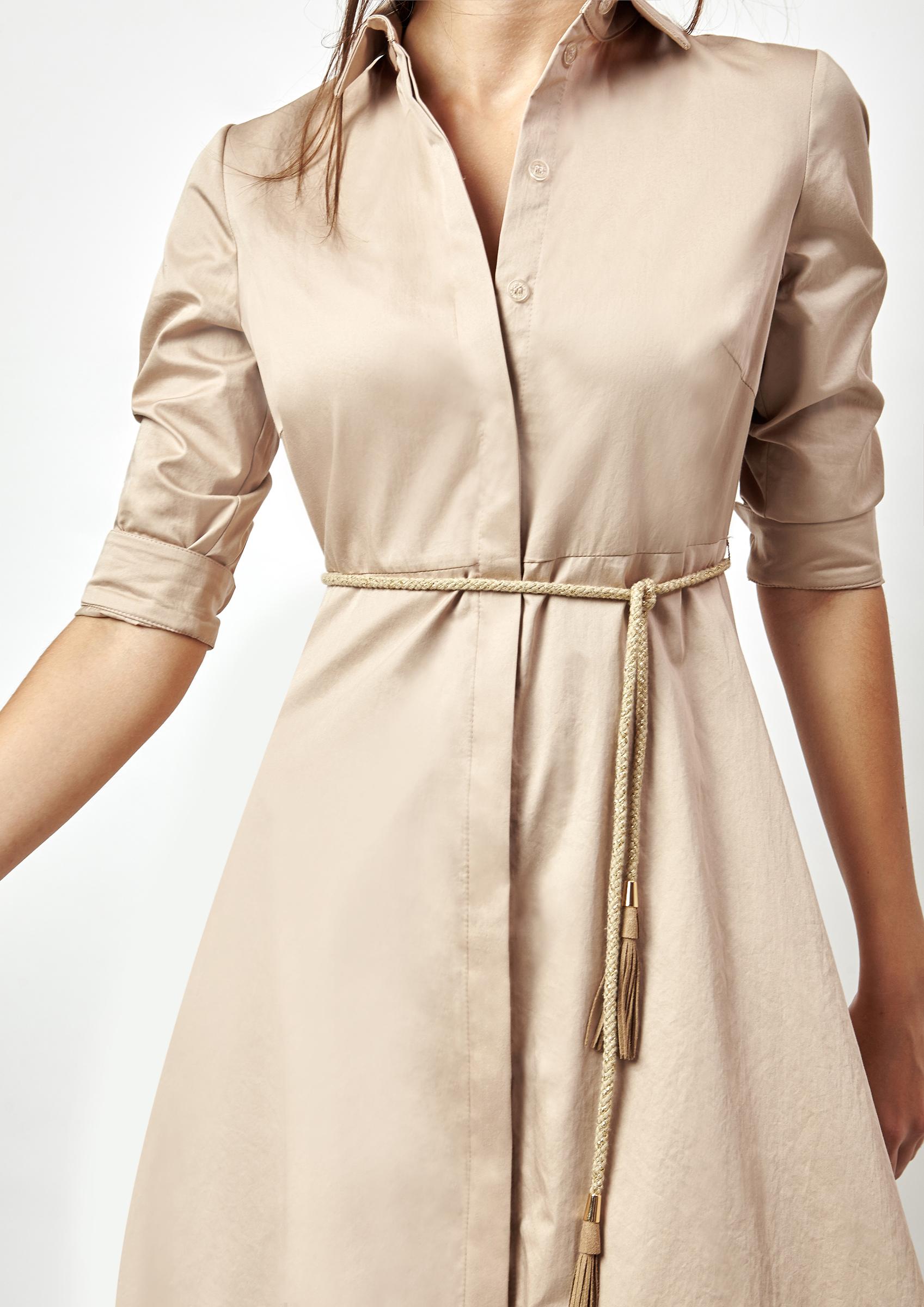 5631c8a04f Vestido camisero mujer color beige