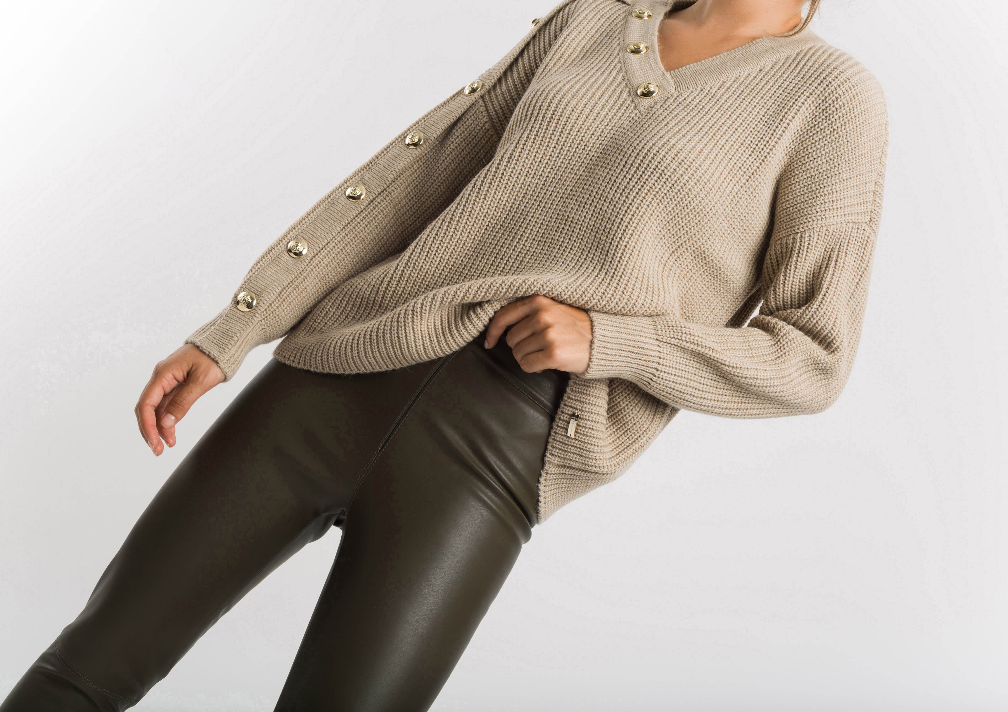 Beige knit jumper