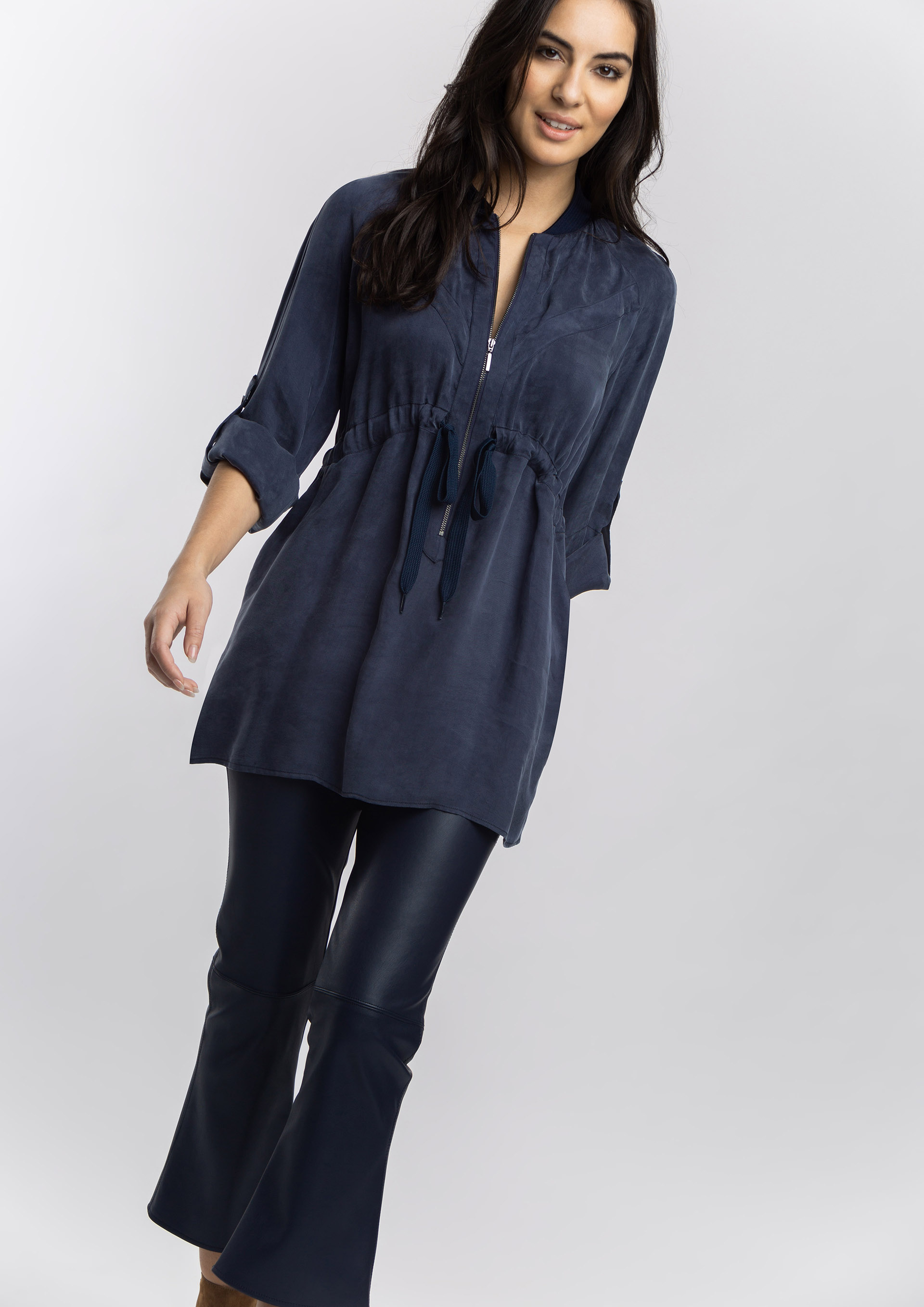 Long cupro blouse