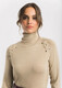 Camel turtle neck jumper