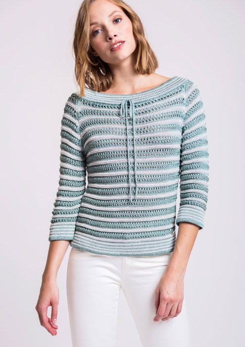Aqua green knit sweater