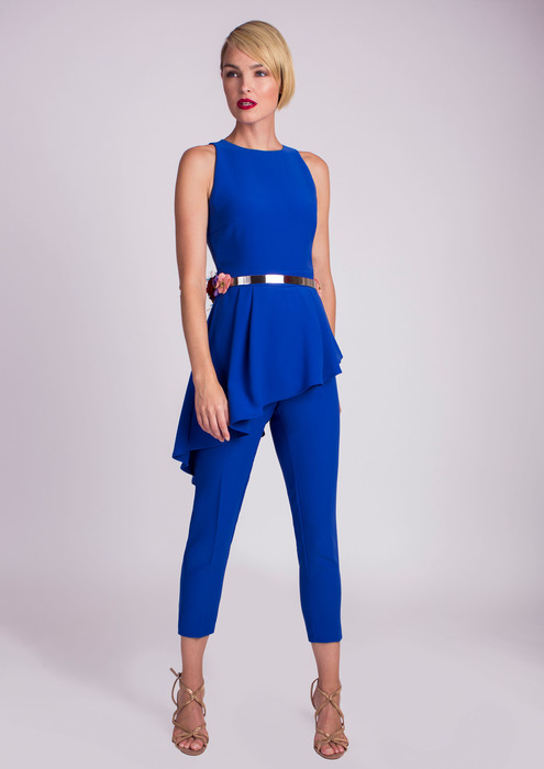 Blue special occasion jumpsuit