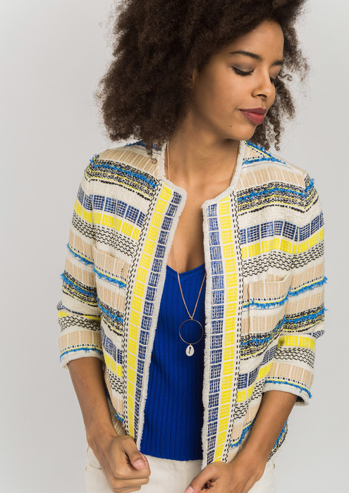 Chaqueta tweed multicolor