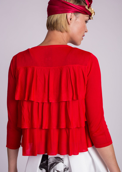 Special occasion jacket in red