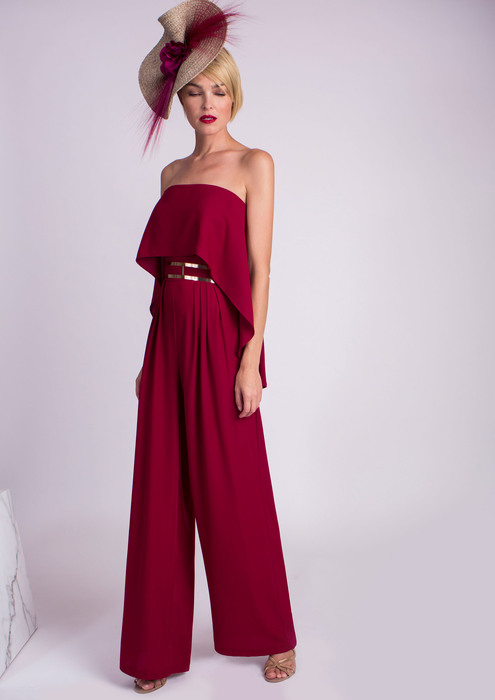 Special occasion maroon jumpsuit