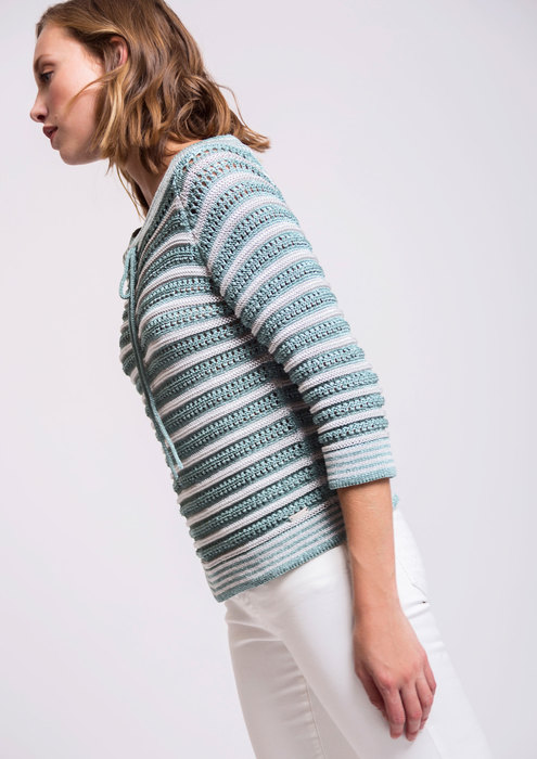 Striped aqua green sweater
