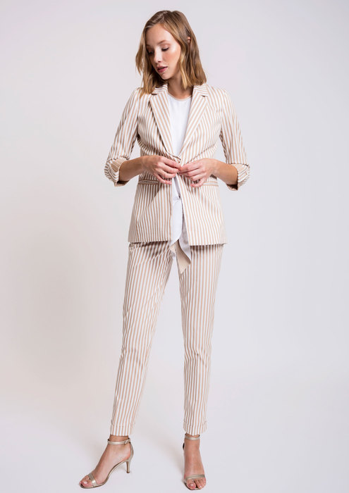 Striped suit
