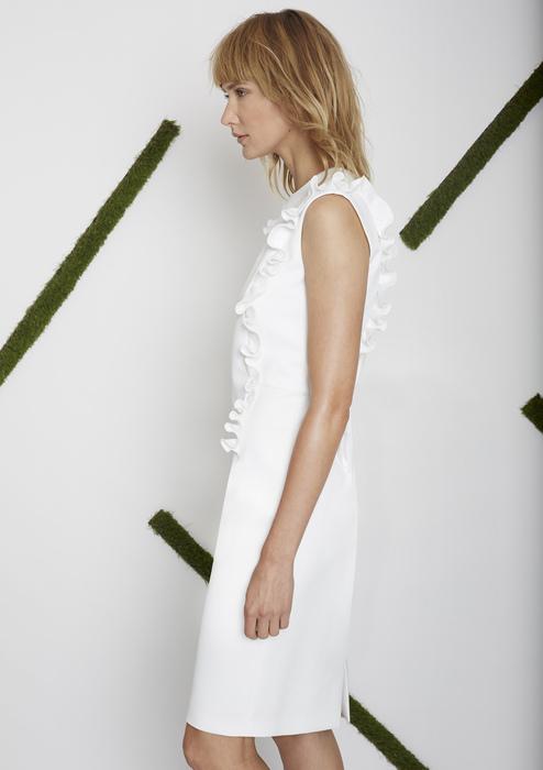 ecfff3d5a96c Vestido entallado blanco