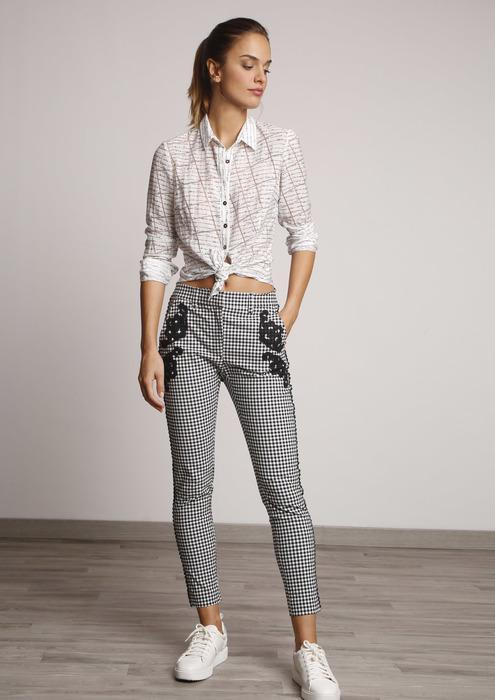 Boda Cuadros Cuadros Cuadros Mujer Pantalon Boda Para Para Mujer Pantalon Pantalon qjARL345