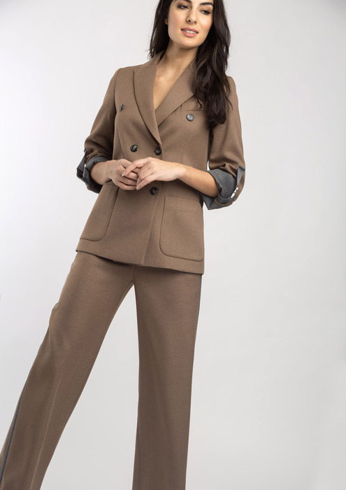 Camel trouser outfit