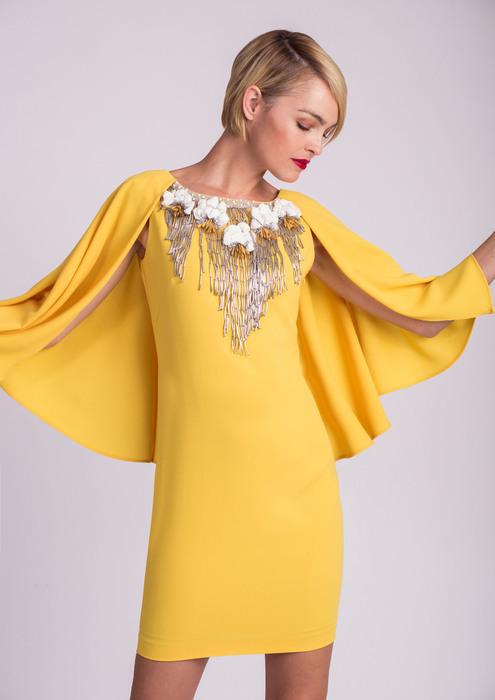 Yellow dress with embellishment