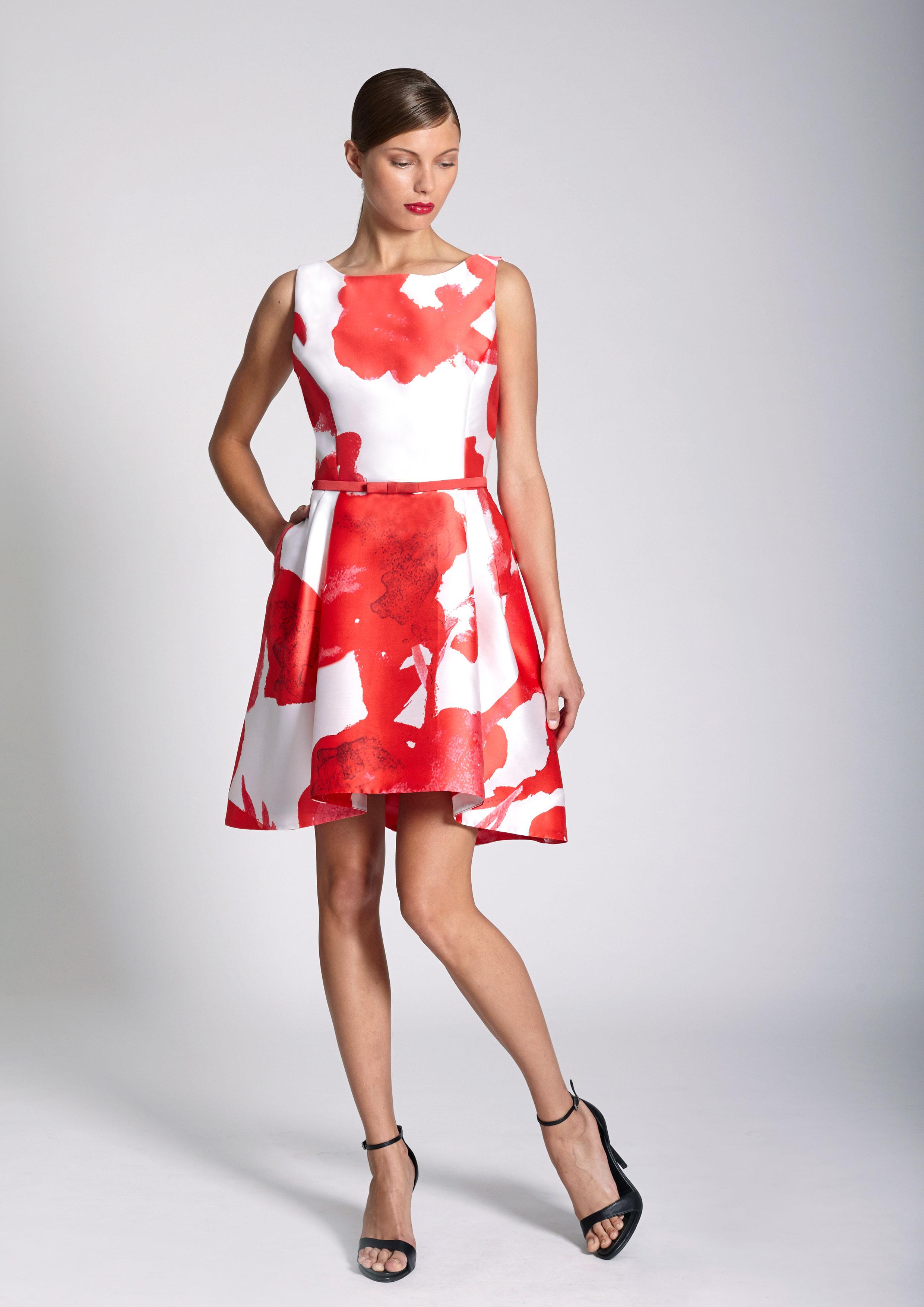 daeb5d6cf8a4d Vestidos rojo y blanco - Vestidos rojos
